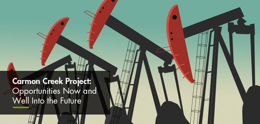 Red pumpjacks illustration