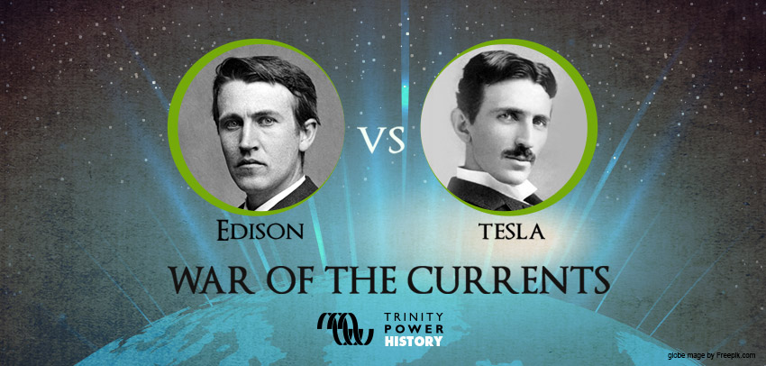 Edison and Tesla portrait images