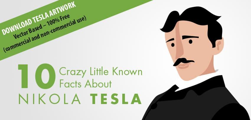Nikola Tesla portrait graphic