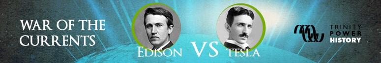 Tesla Edison banner ad
