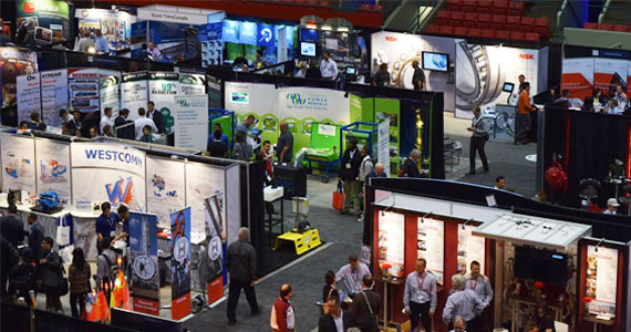 Attendees and exhibitors at the Global Petroleum Show.