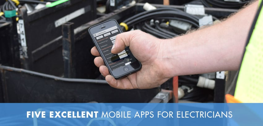 Electrician using a mobile application