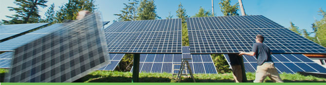 Solar Panels on Hakai Island