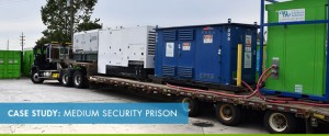 Case study that documents temporary power requirements for a prison.